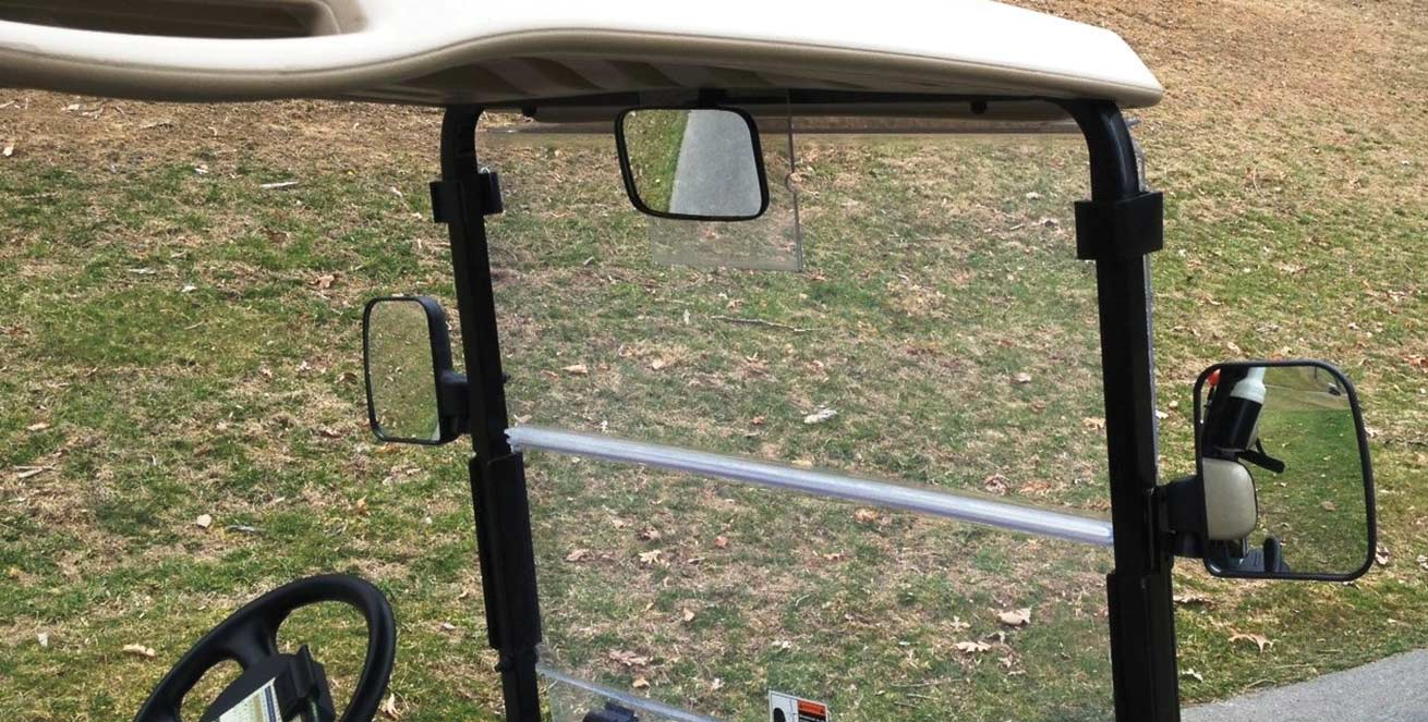 Golf Cart 3 Piece Mirror Kit Maverick Advantage