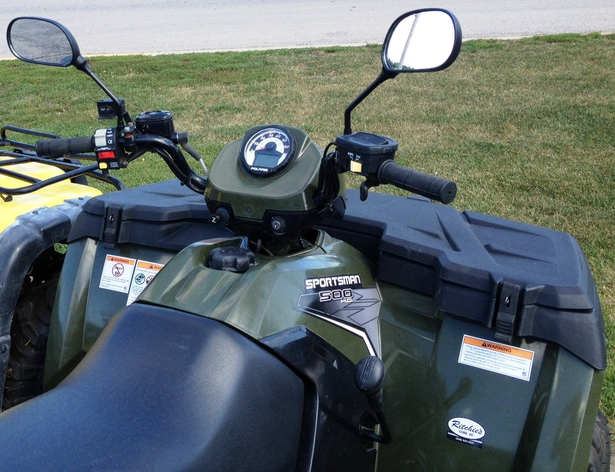 Snowmobile Side Mirrors : Atv mirror set universal for all s maverick advantage