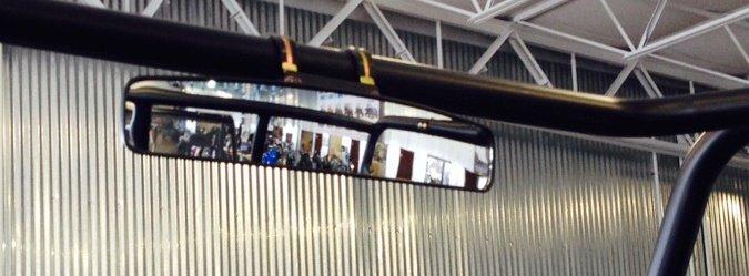 Kubota Tractor Rear View Mirror : Quot panoramic rear view mirror for kawasaki teryx utv