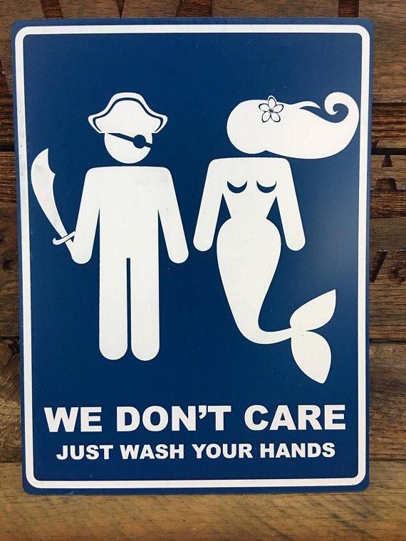 Vinyl Bathroom Signs
