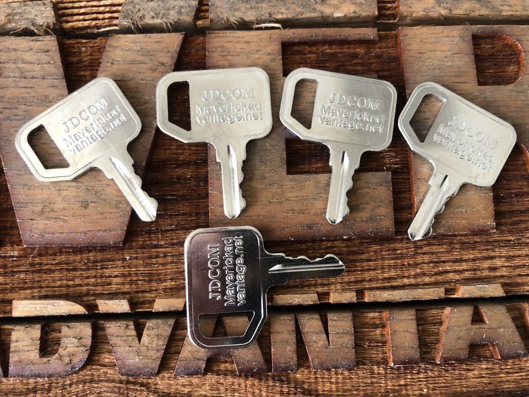Lost Honda Key >> John Deere Common Key AR51481 AT195302 Multi-Equip Gator Key, Loader, Industrial (Set of 5 ...