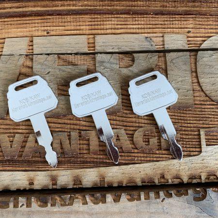 3 Keys - Gehl, Kawasaki, Kobelco, Case, 2420Z1030D2