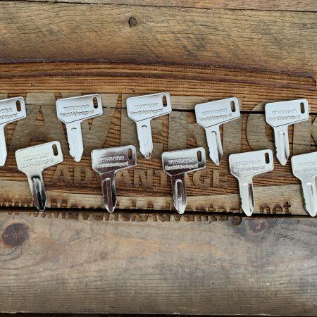 10 Keys - Yanmar Excavator, John Deere Mini Excavator, Kubota Mini Excavator, 933110-00301