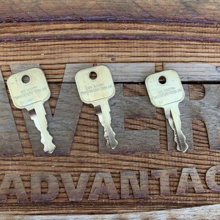 3 Keys - Hamm, Bomag, CAT, JCB, New Holland, Volvo, Bobcat, Heavy Equipment Ignition, 14707